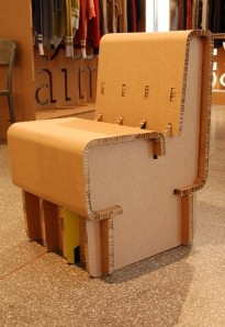 cartboard chair